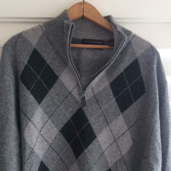 Giasone Cashmere Argyle Sweater